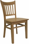 Vertical Slat Chair with Natural Finish [8242-N-N-HND]