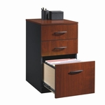 Via 15''W x 28''H 3 Drawer Wooden Pedestal with Hidden Casters - Cherry [401443-FS-SRTA]