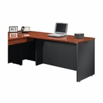 Via 48''W x 30''H Wooden Desk Return with Adjustable Levelers - Cherry [401446-FS-SRTA]