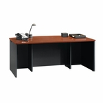 Via 71''W x 30''H Wooden Executive Desk with Adjustable Levelers - Cherry [401447-FS-SRTA]