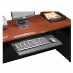 Via 25''W x 16''D Wooden Keyboard Shelf with Full-Extension Slides - Cherry [401527-FS-SRTA]