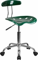 Vibrant Green and Chrome Task Chair with Tractor Seat