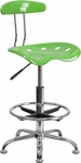 Vibrant Spicy Lime and Chrome Drafting Stool with Tractor Seat [LF-215-SPICYLIME-GG]