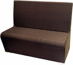 Villa Low Back Modern Polyethylene Wicker Indoor/ Outdoor Booth Bench [A049C4-120-ATC]