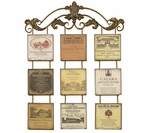 Antiqued Metal Vineyard Plaques 38.5''H Wall Art Decor - Multicolor [2161-FS-PAS]