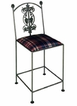 Vineyard 18'' Wrought Iron Side Chair with Upholstered Seat [GMC-3018-7-FS-GCM]