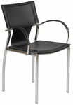 Vinnie Arm Chair in Black - Set of 2 [17211BLK-FS-ERS]