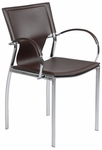 Vinnie Arm Chair in Brown [17211BRN-FS-ERS]