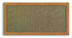 Vinyl Covered Bulletin Board With Wood Trim [WF-203-MSH]
