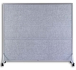 Vinyl Double Duty Space Dividers - 64''H x 48''W [BD-644-MSH]