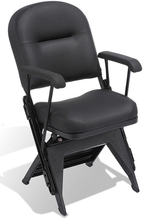 VIP Series Upholstered Seat and Back Folding Chair with Arms and Leg Covers