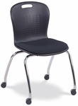 Civitas Series 18''H Mobile Ergonomic Sage Chair with Upholstered Seat [CS18PC-VCO]