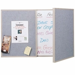 VisuALL PC Personal Conference Board with Erasable Markerboard and Fabric Tackboard [41300-GHE]
