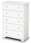 Vito Collection 5-Drawer Chest Pure White [3150035-FS-SS]