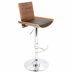 Vittorio Barstool in Walnut and Brown [BS-JY-VIT-WL-BN-FS-LUMI]