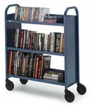 Voyager Single Sided Book & Utility Truck - 36''W x 14''D x 44''H [BOOV2-BRET]