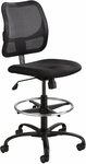 Vue™ Ergonomic Mesh Extended Height Drafting Chair - Black [3395BL-FS-SAF]
