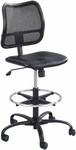 Vue™ Ergonomic Mesh Extended Height Drafting Chair - Black Vinyl [3395BV-FS-SAF]