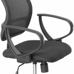 Vue™ Optional Loop Arms for Mesh Extended Height Chair - Black [3396BL-FS-SAF]