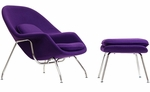 W Lounge Chair and Ottoman Set in Purple [EEI-113-PRP-FS-EEI]