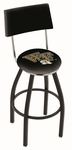 Wake Forest University 25'' Black Wrinkle Finish Swivel Counter Height Stool with Cushioned Back [L8B425WAKEFR-FS-HOB]