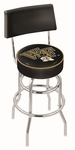 Wake Forest University 25'' Chrome Finish Swivel Counter Height Stool with Double Ring Base [L7C425WAKEFR-FS-HOB]