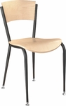 Walker Metal Chair - Beechwood Seat and Back [283A-FS-CMF]