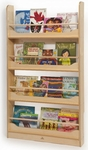 Wall Mount Book Shelf with Four Book Storage Shelves [WB2113-FS-WBR]