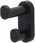 Double Hook 1.75'' W x 3.75'' D x 4'' H Wall Mount - Set of Six - Black [4223BL-FS-SAF]
