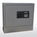20.63'' W x 5.25'' D x 19.5'' H Wall Mount Laptop Safe and Security Cabinet - Charcoal