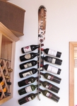 Wall Mounted Snow Ski Wine Rack [WINEWALL-FS-ISK]