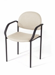 Wall Saver Stacking Side Chair / Patient Room Chair with Slant Arms [202-INT]