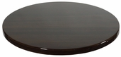 Walnut Resin 24'' Round Indoor Table Top