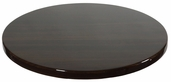 Walnut Resin 30'' Round Indoor Table Top