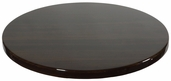 Walnut Resin 48'' Round Indoor Table Top