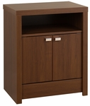 Series 9 Designer 2 Door 28''H Nightstand with Chrome Finished Metal Pulls - Cherry [LDNH-0502-1-FS-PP]