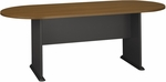 82'' W x 35'' D Racetrack Conference Table - Warm Oak [TR67584-FS-BBF]
