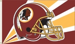 Washington Redskins 3' X 5' Flag w/ Grommets - Helmet Design [94207B-FS-BSI]