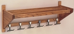 WAW 127 Hat and Coat Rack with Medium Oak Finish [WAW127-3-CLA]