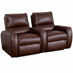 Welbourne Two Seater Home Theater - Straight Arm in Top Grain Leather [530-WELBOURNE-S2-FS-LTS]
