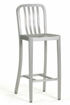 Welded Brushed Aluminum Barstool [7008B-HND]