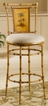 West Palm Metal 30'' Bar Height Stool with Beige Fabric Swivel Seat - Burnished Brown [4330-830-FS-HILL]