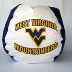 West Viginia Mountaineers Bean Bag Chair [BB-40-WVU-FS-BBB]