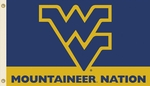 West Virginia 'Mountaineer Nation' 3' X 5' Flag with Grommets [95112-FS-BSI]