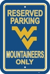 West Virginia Mountaineers 12'' X 18'' Plastic Parking Sign [50273-FS-BSI]