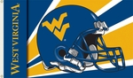 West Virginia Mountaineers 3' X 5' Flag with Grommets - Helmet Design [95312-FS-BSI]