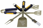 West Virginia Mountaineers 4 Pc Bbq Set [61012-FS-BSI]