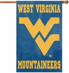West Virginia Mountaineers Applique Banner Flag [AFWV-FS-PAI]