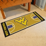 West Virginia University Basketball Court Runner 30'' x 72'' [11124-FS-FAN]