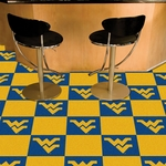 West Virginia University Carpet Team Tiles - 18'' x 18'' Tiles - Set of 20 [8519-FS-FAN]